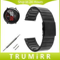 22mm Stainless Steel Watchband Quick Release Strap For Amazfit Huami Xiaomi Smart Watch Band Butterfly Clasp