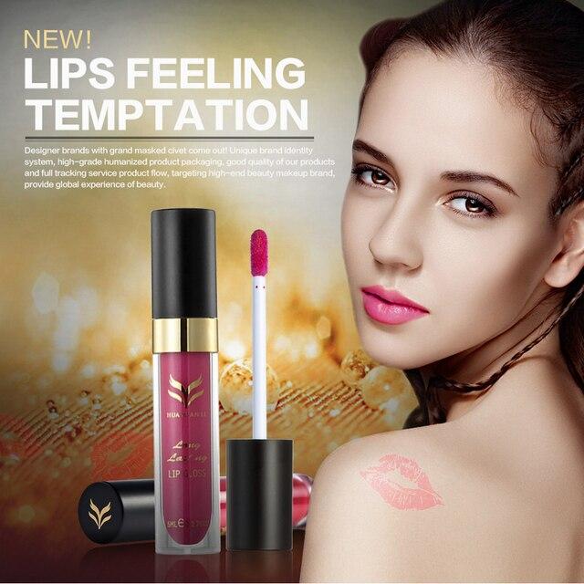 T2N2 New 6pc Pro 12 Colors Non-stick Cup Lipgloss Matte Long Lasting Fastness Liquid Lipstick Honey Lip Gloss