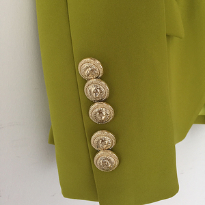 Image 5 - HIGH STREET New Fashion 2020 Designer Blazer Jacket Womens Metal Lion Buttons Double Breasted Blazer Outer Coat Ginger