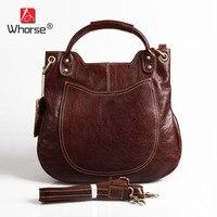 Top Quality Handmade Vintage Casual Bag Genuine Leather Womens Real Cowhide Designer Handbag Messenger Bags For Women W092544
