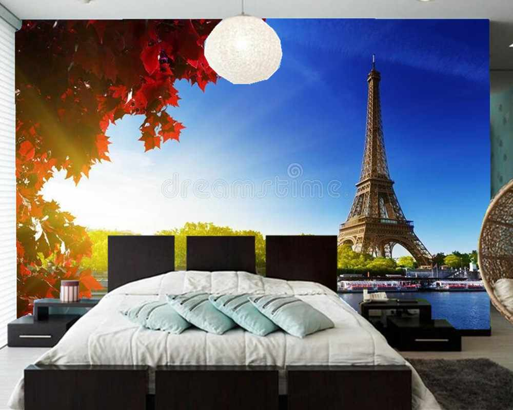 Color of autumn in Paris nature 3d wallpaper papel de parede,living room TV wall bedroom wall papers home decor restaurant mural