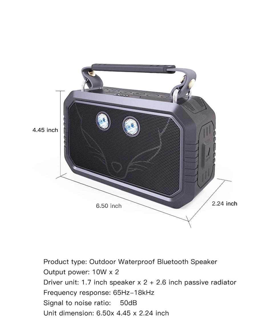 V4.0 Viajante Ao Ar Livre Bluetooth Speaker