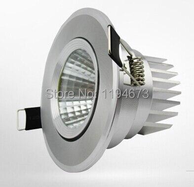 Оптовая цена затемнения 10 Вт cob встраиваемые потолочный светильник Подпушка света кабинета Подпушка свет теплый белый холодный белый AC 85 ~ ...