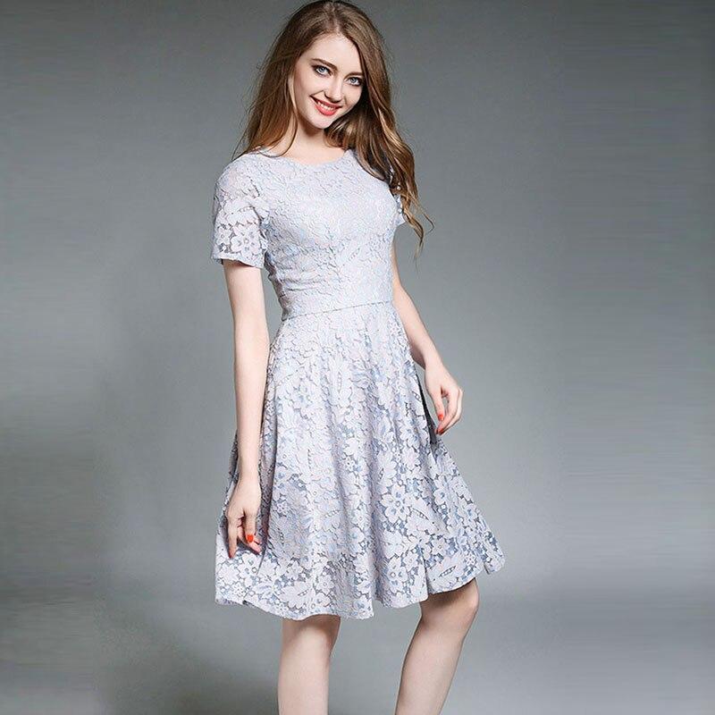 MYCOURSE Women Summer Dress Lace Dresses knee Length ... - photo #22