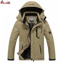Rivestimento di inverno degli uomini outwear Fodera di lana spessa di cotone caldo parka uomini cappotto impermeabile antivento neve allaperto giacche da sci