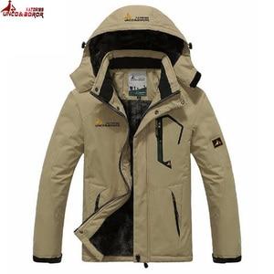 Image 1 - winter jacket men outwear wool Liner thick warm cotton parka men coat waterproof windproof outdoor snow ski jackets