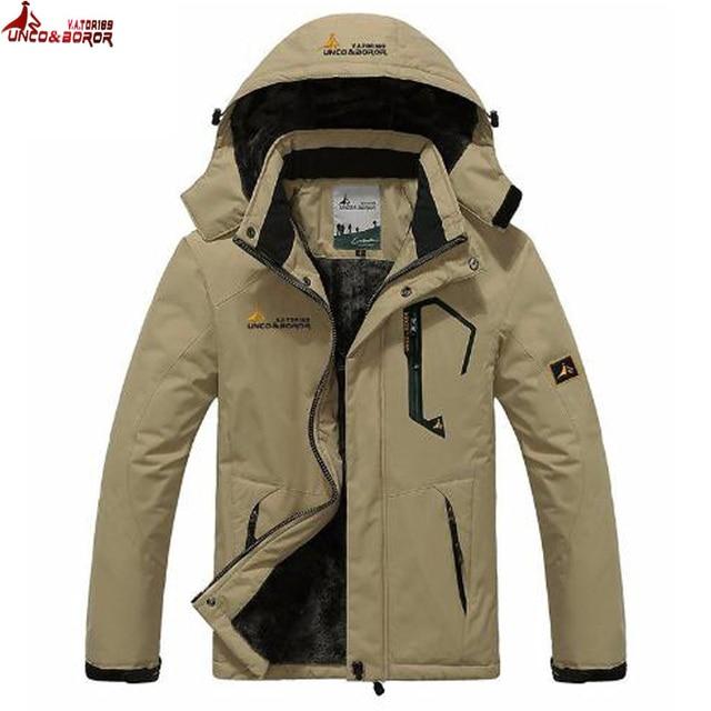 winter jacket men outwear wool Liner thick warm cotton parka men coat waterproof windproof outdoor snow ski jackets