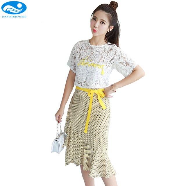 3760a6e26067 2017 donne abito di pizzo ricamo del vestito delle donne midi abito giallo  estate abiti casual