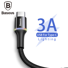 Baseus USB Type C Cable For Samsung Xiaomi Redmi Note 7 K20 Oneplus 7 Pro Fast Charging USB-C Charger Mobile Phone USBC Cable 2m гарнитура qcyber roof black red звук 7 1 2 2m usb