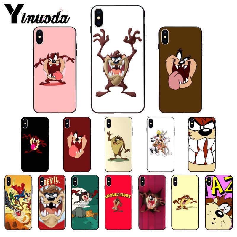 Yinuoda Looney Tunes Tasmanian Teufel Taz Weichen Silikon Telefon Fall für iPhone 8 7 6 6S Plus X XS MAX 5 5S SE XR 11 11pro 11promax