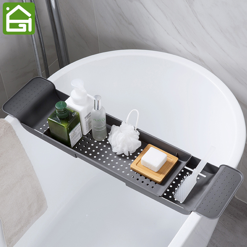 Aliexpress.com : Buy Plastic Caddy Bathtub Tray with Extending Sides ...