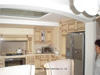 classic solid wood kitchen cabinet furniture (LH SW030)