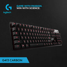 Asli Logitech G413 Mechanical Gaming Keyboard LED Backlit dengan Kabel USB Computer Game 113 Kunci(China)