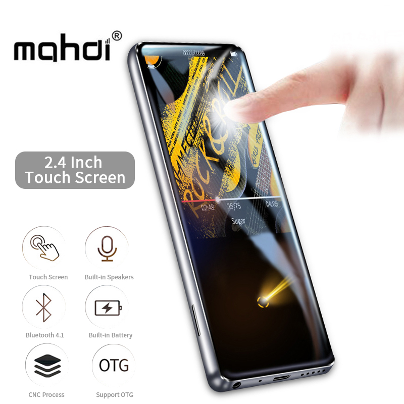 Mahdi M600 Metal Bluetooth Sport MP3 Player Portable Audio 16GB with Built-in Speaker FM Radio Lossless Sound mp-3 HIFI Player mp3 player built in speaker metal lossless sound audio music player with fm radio hd video player support sd card up to 64gb
