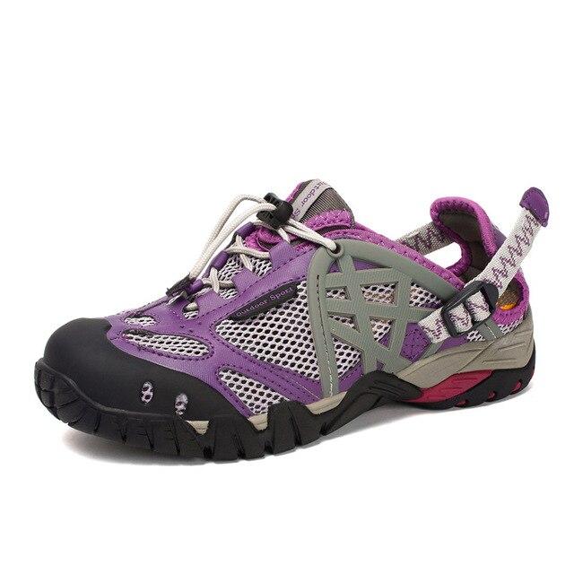 Zapatillas de senderismo transpirables para hombre y mujer zapatos de exterior sandalias de agua para senderismo
