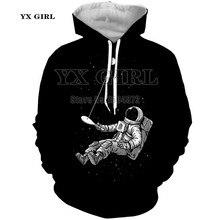 NEW Fashion 3d Print Galaxy Astronaut Hoodies Men/Women Casual Autumn Pullover Pocket Sweatshirt Space Tracksuit