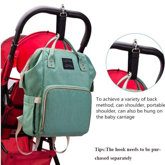 Lequeen موضة المومياء الأمومة الحفاض حقيبة العلامة التجارية سعة كبيرة الطفل حقيبة حقيبة السفر مصمم حقيبة التمريض لرعاية الطفل 4