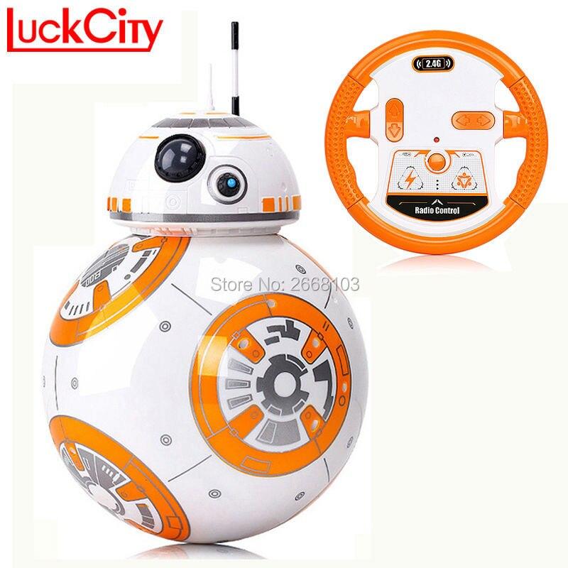 Entrega rápida BB-8 bola 20,5 cm Star Wars RC BB 8 Droid Robot 2,4g Control remoto BB8 inteligente Robot figura de acción modelo de Juguetes