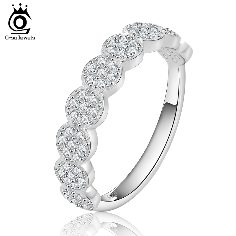 orsa jewels newest design famous brand ring with brilliant micro paved cz engagement ring jewelry for
