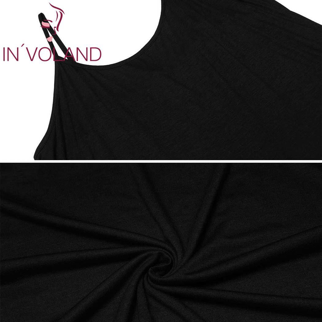 IN'VOLAND Women Sleepwear Dress Nightgowns Plus Size XL-5XL Adjustable Spaghetti Strap Cami Sleep Dresses Sleepshirts Oversized 5