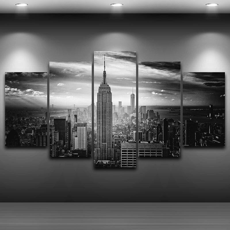 Empire State Building Spray Oil Painting Decoration Home