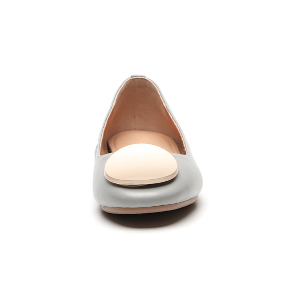 97a919a345548 Taille Véritable 34 Cuir Ballerines gris Bateau Foreada Grande 42 Beige En Printemps  Chaussures Occasionnels Naturel ...
