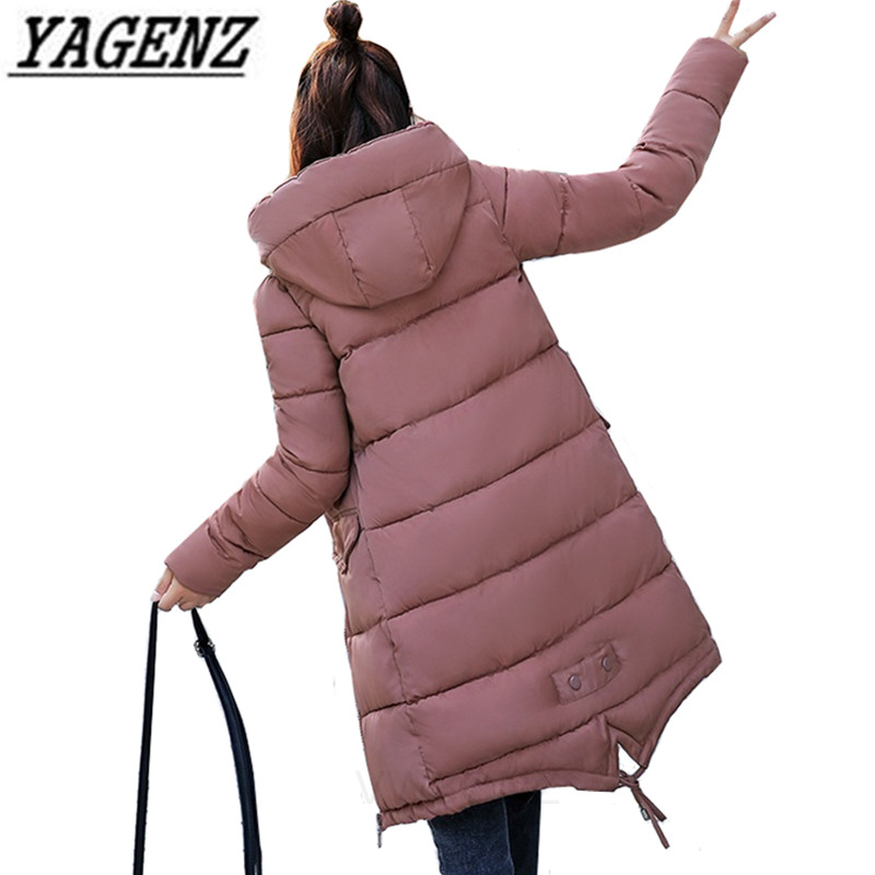 2018 New Women Winter   Parka   Hooded Jacket Coat Warm Loose Down cotton Female Long Overcoat Black Casual Jacket Cute Student Coat