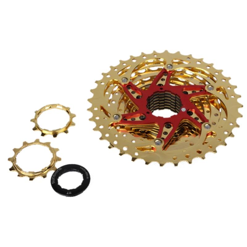 Culoare de aur cu 10 viteze 11-36T Mountain Bike Casetă Volantă - Ciclism - Fotografie 2