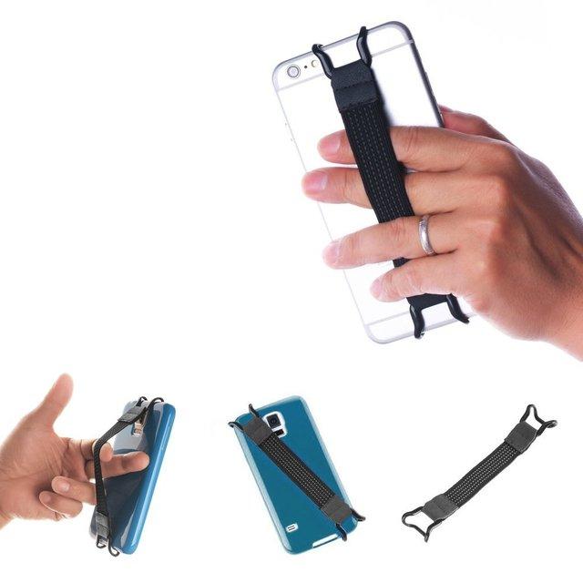 new styles 346c6 f9bbf US $0.56 17% OFF For Apple iPhone Samsung Finger Grip Elastic Band Strap  Universal Phone Holder for Mobile Phones Cellphone Anti slip Bracket-in ...
