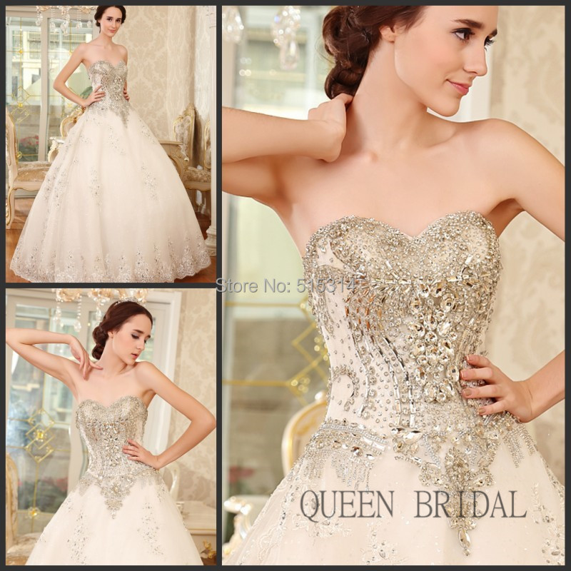 2017 lace applique wedding gowns with diamonds and crystals indian wedding designer dresses bridal dresses queen