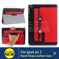 Luxury PU Leather Case For IPad Air 2 Arm Band Loud Speaker Magnetic Smart Cover Stand