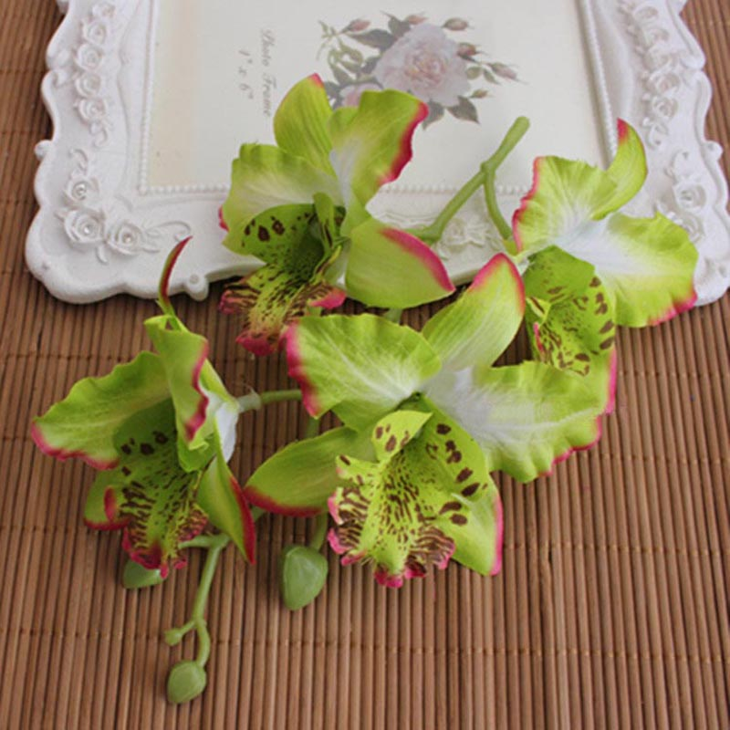 №10 unids, dia.10cm/cabeza, 4 cabezas grandes seda orquídea mariposa ...