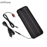 MVPower 12V 4.5W Solar Panel Bank Power Portable Solar Battery Charger for Car Auto Boat