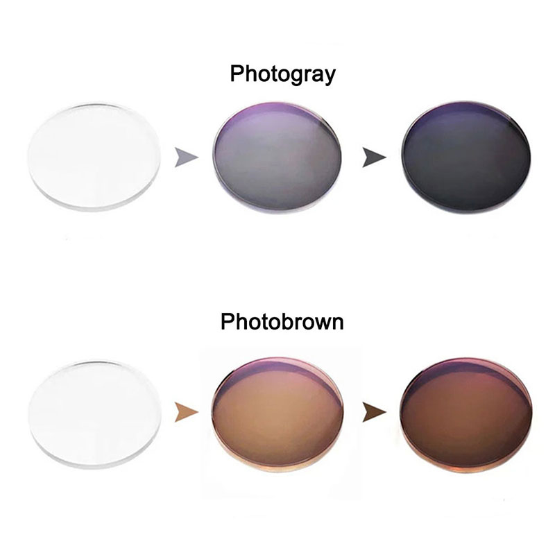 1.56 Photochromic Single Vision Lensa Resep Aspheris Optik Kinerja - Aksesori pakaian - Foto 5