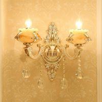 Deco Marble Light Hotel Furniture Wall Lighting Fixtures Reading Crystal Wall Lamp Corridor Arandela Led Mirror Sconce Lamparas