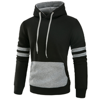MarKyi Sudaderas Hombre 2017 Striped Patchwork Hoodies Men Plus Size 3xl Good Quality Cotton Men Sweatshirt