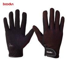 Boodunプロ乗馬男性女性耐摩耗性滑り止め馬術手袋競馬手袋機器