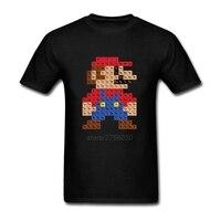 Comfortable Tshirt Male Periodic Mario Table MensT Shirt Create Men Cotton Tee Shirts
