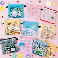 1 Pc neue Nette Cartoon My Melody Pudding Cinnamoroll Hund Little Twin Sterne tuch Münze tasche Sanitär serviette tasche abbildung spielzeug geschenk