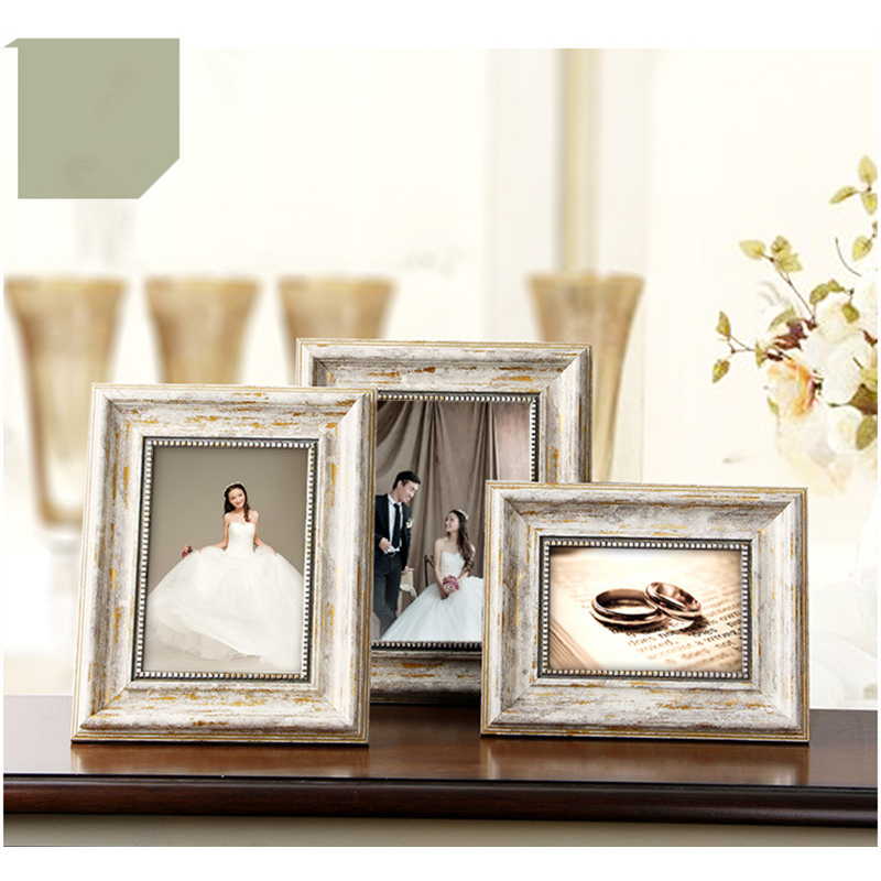 High Quality Collage Frames 1 Piece/Lot Elegant Plastic Photo Frame 4 Sizes 6/7/8/10 Inch Frame For Canvas Home Decoration ...