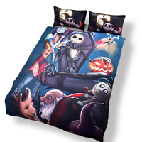 New Dark 3D Bedding Nightmare Before Christmas Gifts For Family Bedlinen Duvet Cover Set Pillow Sham