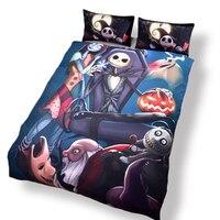 New Dark 3D Bedding Nightmare Before Christmas Gifts For Family Bedlinen Duvet Cover Set Pillow Sham