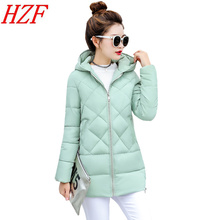 New Winter Jacket Women Long Slim Coat Female Down Cotton Clothing Thicken Parka Plus Size Hooded