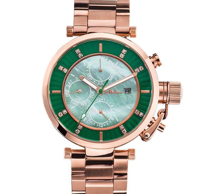 купить MELISSA New Designer Women Neutral Watches Big Size Vogue Girls Calendar Wrist watch Steel Bracelet Relogios Montre Femme FS8214 по цене 6859.59 рублей