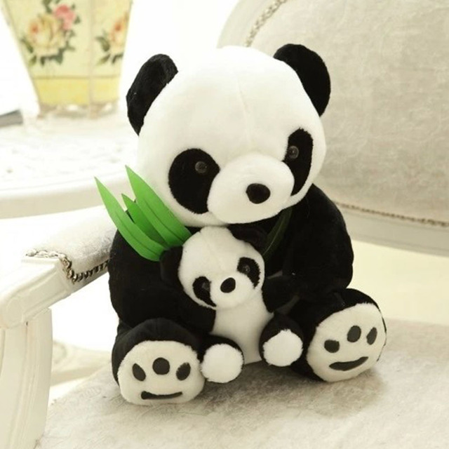 New Baby Toys Mama And Baby Panda Plush Toy Lovely Doll