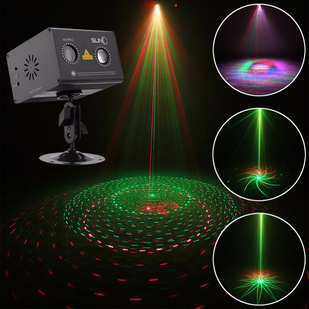 Laser Light Gobo Projector W Led Rgb