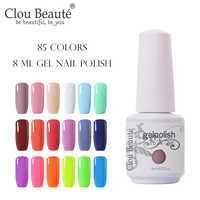 Clou Beaute Lak Gel Gel Unha Polonês Conjunto de Arte Para Manicure UV Vernis Semi Permanente Gellak 85 Cores Verniz Gel unha Polonês 8 ml