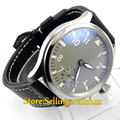 47mm Parnis big gray dial MECHANICAL manual wind 6497 mens Watch