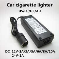 Ac 100 v-240 v 100 v 220 v para dc 12 v carro isqueiro ac/dc conversor de energia adaptador inversor transformador de alimentação 12 volts