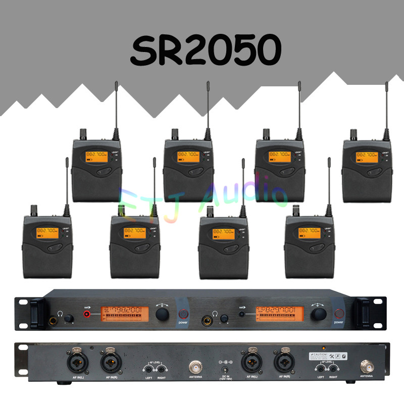 In Ear Monitor Wireless System  Professional for Stage Performance SR2050 IEM With 8 Receiver ew300 iemg3 in ear monitor wireless system with usb function quality ew100 iem g3 g3 iem ek 300 monitoring with in earphone